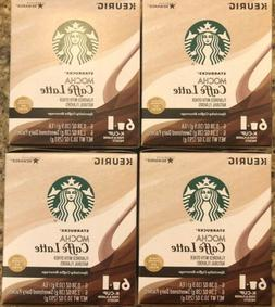 Starbucks Mocha Caffe Latte K Cups 4Boxes 24 Pods And 24 Dai