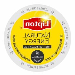 Lipton Natural Energy Premium Black Tea 24 to 144 Keurig K c