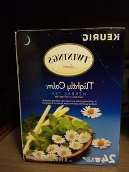 nightly calm herbal tea 24k cups camomile