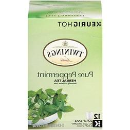 Twinings of London Pure Peppermint Tea K-Cups for Keurig, 12
