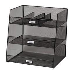 Onyx Break Room Supplies Organizer - 3293BL