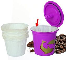 Optional Disposable Paper Filters for Reusable K Cups  Fits