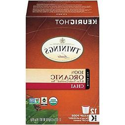 Twinings 100% Organic and Fair Trade Certified Chai Tea, 12