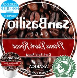 San Basilio Organic  K Cups Prima Dark Roast Coffee High Alt