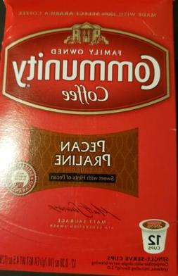 COMMUNITY COFFEE - Pecan Praline - 12 K-Cups. Exp. 09/21