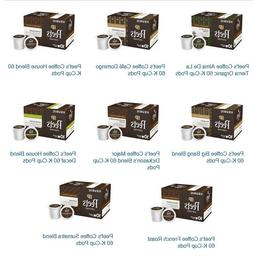 Peet's Coffee 60, 64 or 75 K-Cup Pods, 8 Blends for choices