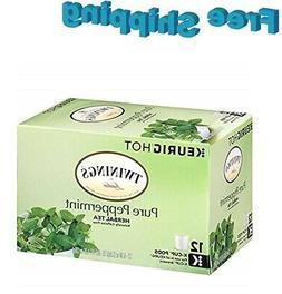 Twinings Pure Peppermint Tea Keurig K-Cups,12 Count