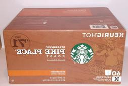 Starbucks Pike Place Medium Roast Coffee K-Cups Pods, 60 ct