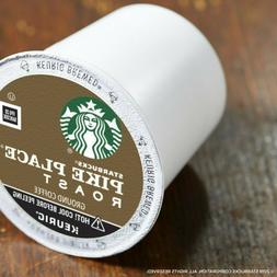 Starbucks Pike Place Medium Roast Ground Coffee K-Cups for K