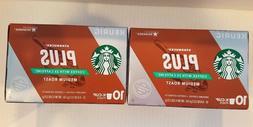 Starbucks Plus Coffee with 2X Caffeine Medium Roast K Cups 1