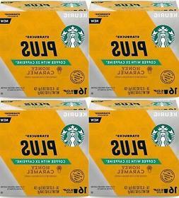 Starbucks Plus Honey Caramel - 2X Caffeine K Cups Keurig Cof