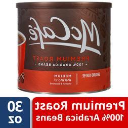 McCafe Premium Roast Ground Coffee, 30 oz Canister