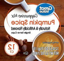 Great Value Pumpkin Spice Cappuccino Mix, 12 Count Coffee Po