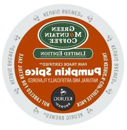 Green Mountain Pumpkin Spice Coffee 24 to 144 K cups Pick An