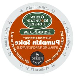 Green Mountain Pumpkin Spice Coffee 24 to 96 K cups Pick Any