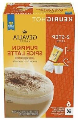 GEVALIA Pumpkin Spice Latte, Espresso K-CUP Pods and Latte F