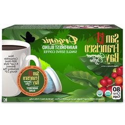 San Francisco Bay Rainforest Blend Coffee 80 K-Cups