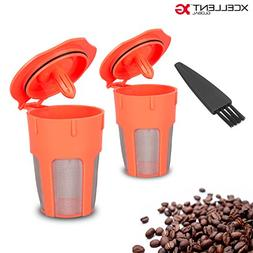Xcellent Global 2 Pack Reusable Coffee Filter, Reusable K-Cu