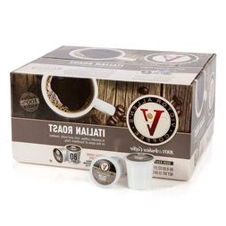 Victor Allen's Coffee K Cups, Italian Roast Single Serve Dar