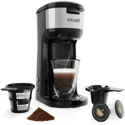 Single Serve K Cup Coffee Maker Brewer for K-Cup Pod & Groun