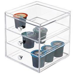 mDesign Stackable Single Serve Coffee Organizer Storage Bin