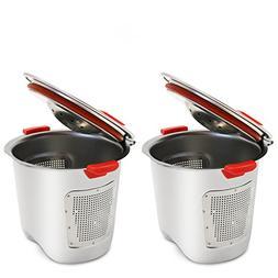 KORSREEL 2 Piece Premium Stainless Steel Reusable K Cups Ref