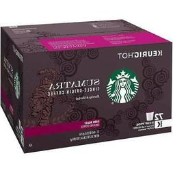 Starbucks  Sumatra Dark Roast K Cups 1 Box of 72 Keurig K Cu