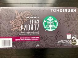 Starbucks Caffe Verona K Cups 54 count Factory Sealed Box