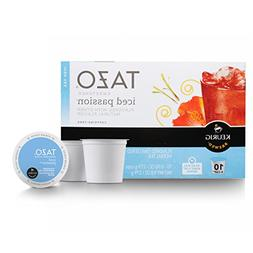 Tazo Sweetened Iced Tea for K-Cup, Passion, 10 ct