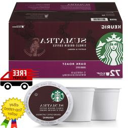 Starbucks Sumatra Coffee K-Cups 72 ct.Dark Roast Ground Coff