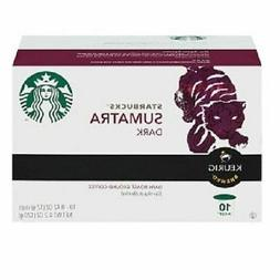 Starbucks Sumatra Dark Keurig K-Cups - 10 ct Dark Roast NO T