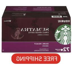 Starbucks Sumatra Dark Roast K Cups • 72 Count • BBD 6/2