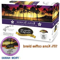 Hawaiian Isles Kona Coffee Co SUNRISE DARK K-Cups Single Ser