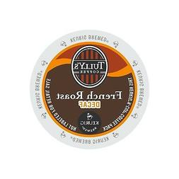 Tully's Coffee French Roast DECAF 4 Boxes of 24 K-Cups