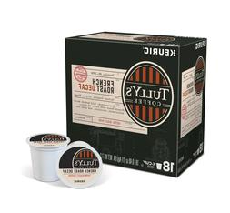 Tully's DECAF French Roast Coffee 18 to 90 Count Keurig K cu