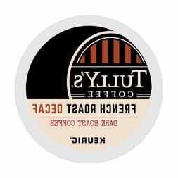 Tully's DECAF French Roast Coffee 24 to 144  K cups Pick Any
