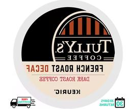 Tully's French Roast DECAF Keurig Coffee K-cups YOU PICK THE