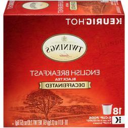 Twinings DECAF English Breakfast Tea 18 to 144 Keurig K cups