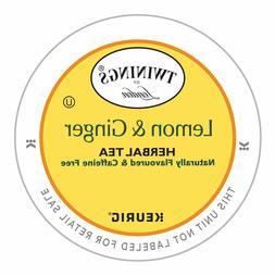 Twinings Lemon & Ginger Herbal Tea 24 to 144 Count Keurig K