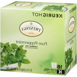 Twinings Pure Peppermint Herbal Tea 18 to 108 Keurig K cups