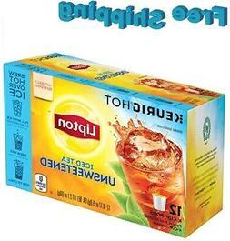 Lipton Unsweetened Iced Tea Keurig k-cups Brew Over Ice