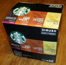 Starbucks Variety Pack Lot 62 Coffee Keurig K-Cup Pods Veran