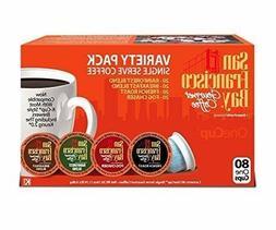 San Francisco Bay Variety Pack 80 count  K CUPS Keurig  Brew