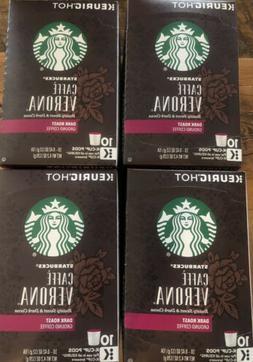 Starbucks Verona Coffee K cups 10 X 4! BB 3/2020 40 Total K-