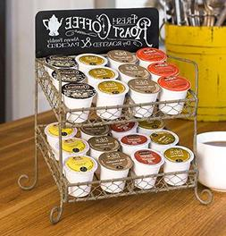 Vintage K-Cup Coffee Pod Country Kitchen Stand Organizer Tab