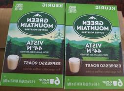 Green mountain Vista 44 Espresso Roast Keurig Coffee k-cups