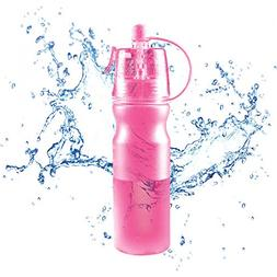 Dr. Prepare 20oz Sports Water Bottle with Spray and Mist, Sp